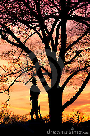 William Tecumseh Sherman Statue silhouette