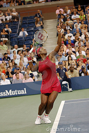 Williams Serena at US Open 2008 (5) Editorial Photography