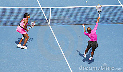 Williams sisters at US Open Editorial Stock Photo