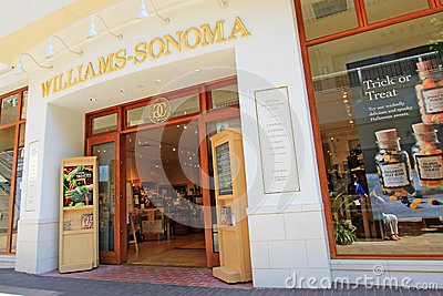 Williams-Sonoma Store Front Editorial Image