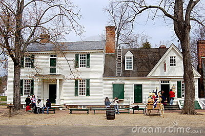 Williamsburg, VA: 1762 James Geddy House Editorial Photography
