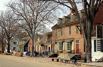Williamsburg, VA: View along Duke of Gloucester St Editorial Image