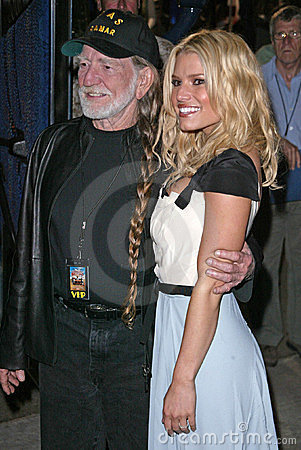 Willie Nelson Jessica Simpson Editorial Stock Photo
