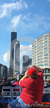 Willis or Sears Tower in Chicago Editorial Image