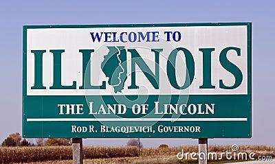 Willkommen zu Illinois Redaktionelles Stockfoto