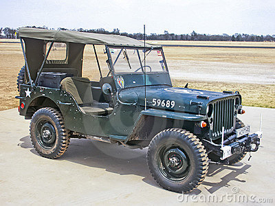 Willys MB US Army Jeep Editorial Photography