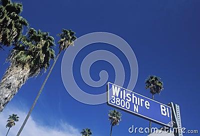 Wilshire Boulevard sign