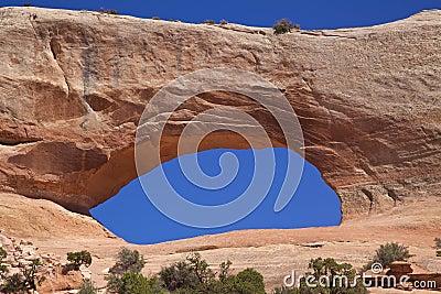 Wilson Arch near Moab Utah Close Up