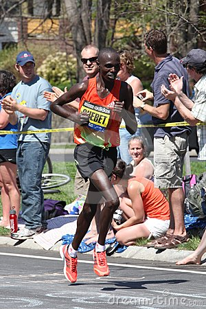 Wilson Chebet races up Heartbreak Hill Editorial Stock Photo