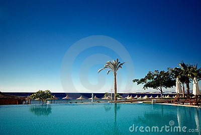 Wimming pool and ocean