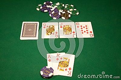 Win in the casino poker