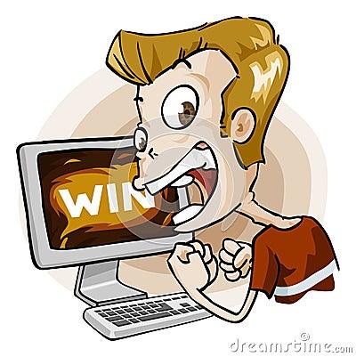 Win in Game. Cartoon Series