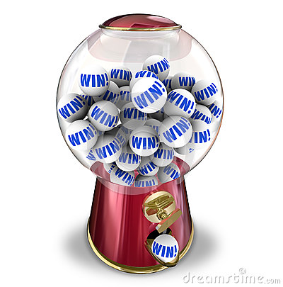 Free Win Lottery Ball Dispenser Lucky Winner Jackpot Stock Photo - 35557050