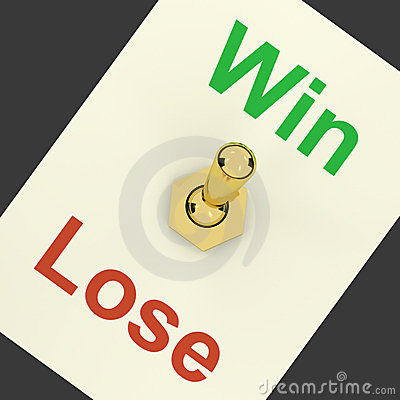Win Switch On Representing Success And Victory