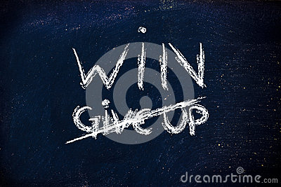 Win vs. give up concepts on blackboard
