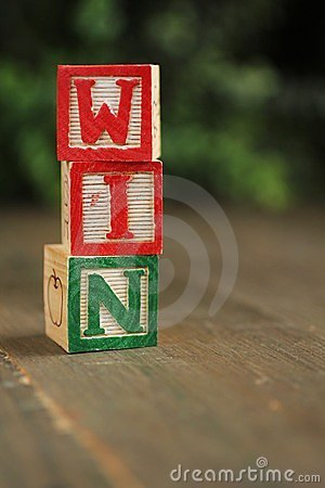 Win wood blocks