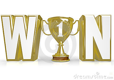 Win Word Trophy for Winner Champion