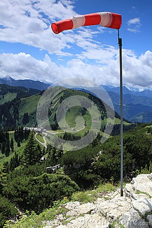 Wind in de Alpen