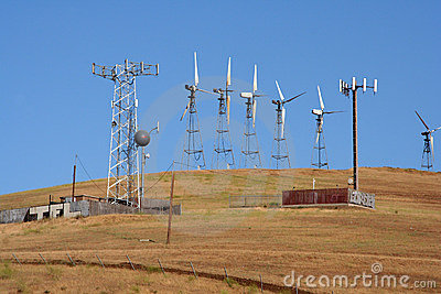 Wind-driven generators & cell site