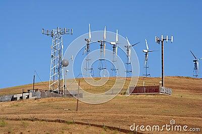 Wind-driven generators & cell site