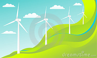 Wind energy concept - vector