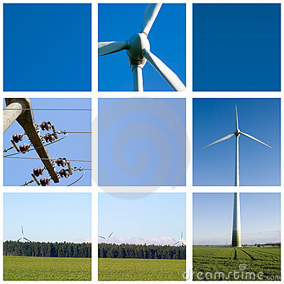 Free Wind Energy Grid Stock Image - 635651