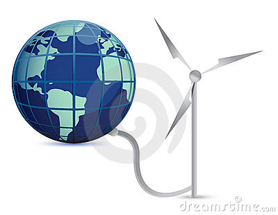 Wind Energy illustration concept design