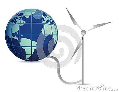Wind Energy illustration concept design