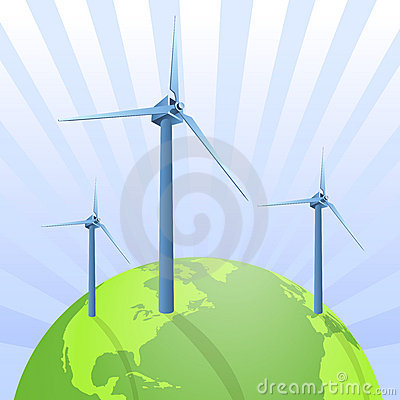 Wind energy saving the earth