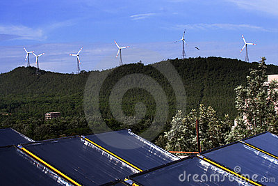 Wind energy and solar power
