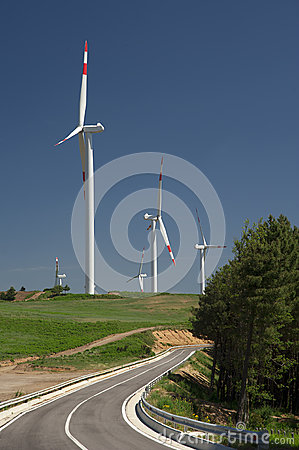 Wind energy,white turbine