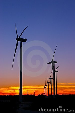 Free Wind Farm After Sunset Royalty Free Stock Images - 1894199