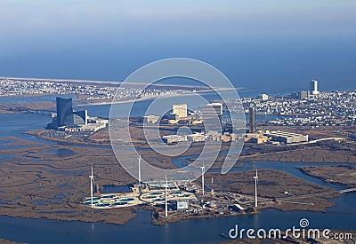 Wind farm at Atlantic City Editorial Photo