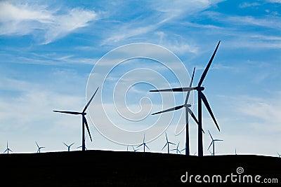 Wind Farm with blue sky