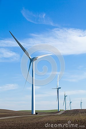 Wind Farm with blue sky