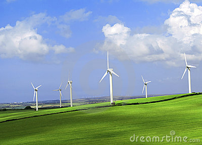 Wind Farm Cornwall England