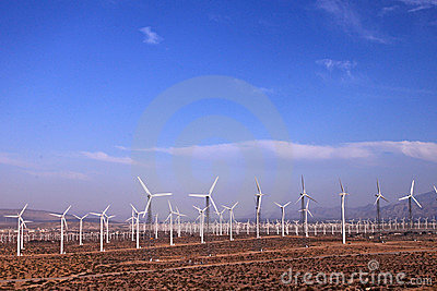 Wind farm in countryside