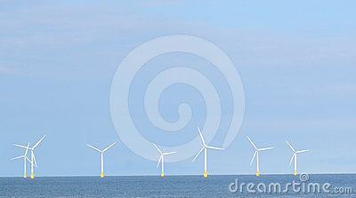 Wind farm at sea.