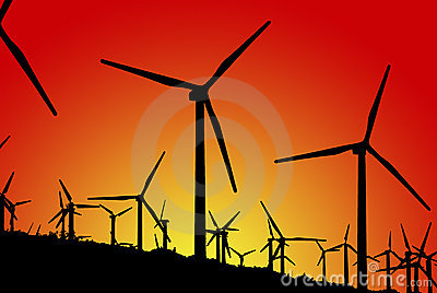 Wind Farm (Silhouettes)