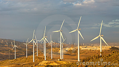 Wind Farm at Tehachapi Pass, California, USA