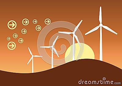 Wind generator graphic