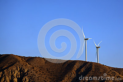 Wind generators on the hill
