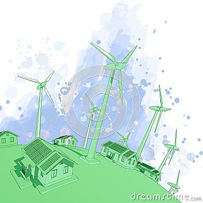 Wind generators & houses