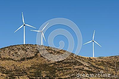 Wind generators on the top
