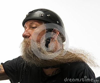 Wind in his beard