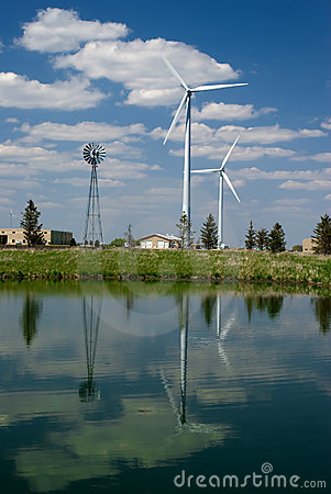 Wind Mill Reflection