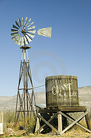 Wind mill and water tank