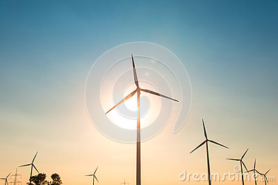 Wind mills during bright