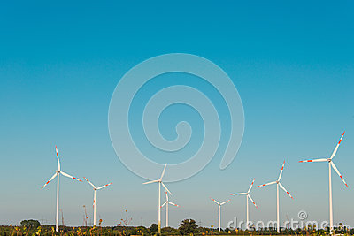 Wind mills during