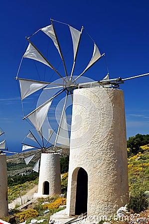 Wind mills in Crete